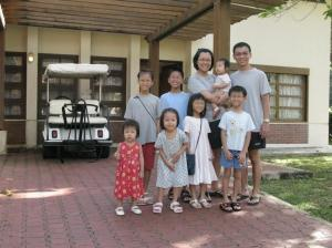BLR Family Pix outside Villa