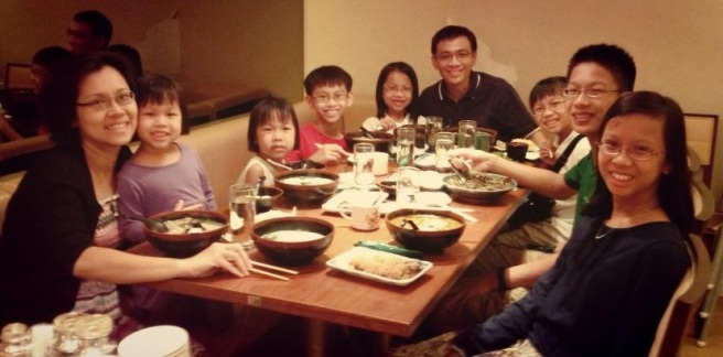 Family Pix at Sushi Tei Christmas 2012