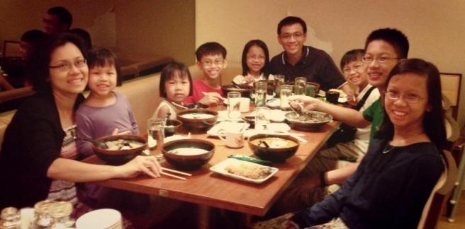 Family Pix at Sushi Tei Christmas 2012