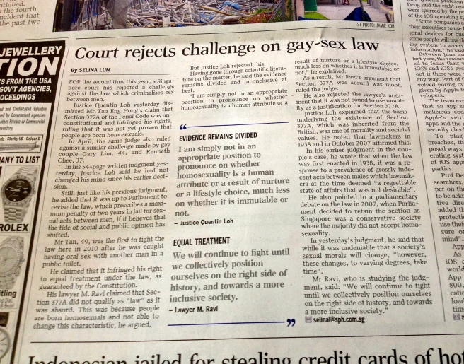 The Straits Times, 3 Oct 2013, A6