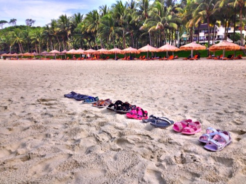 Footwear on Beach