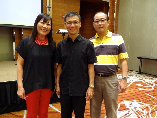 With Senior Pastor Lawrence Lee and his wife, Amy.