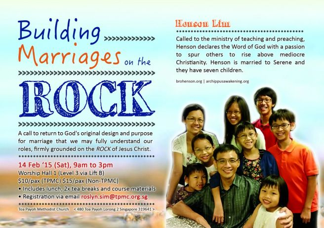 TPMC Building Marriages on the Rock