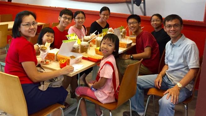 Family at A&W Melaka