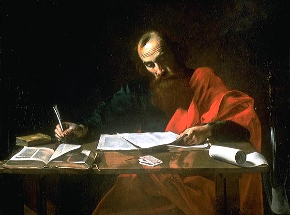 St Paul Writing Epistles