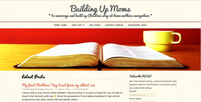 BuildingUpMoms Website
